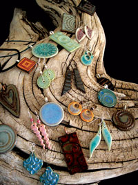 Various jewelry by Leigh Metz