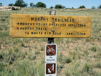 Murphy Trailhead sign