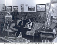 Dude Larson and wife Dot in their studio