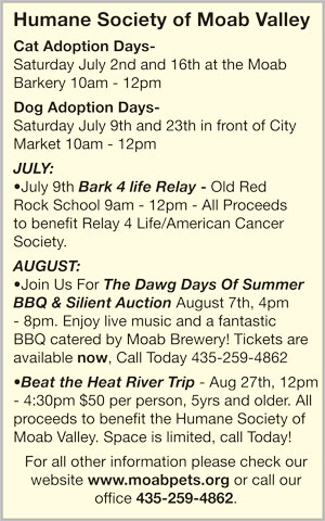July 2011 Humane Society Event Dates