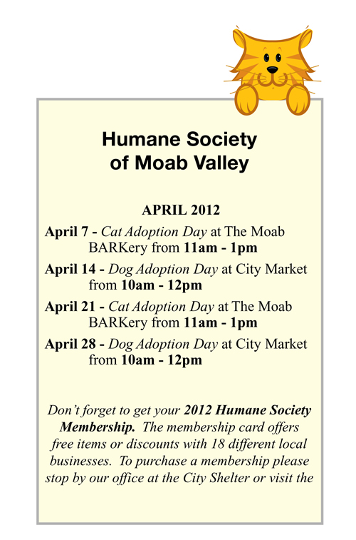 HMSV April Adoption Days