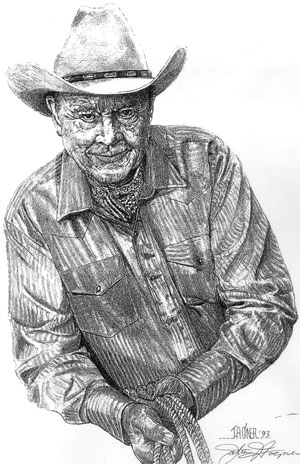 Ben Johnson drawing by John Hagner