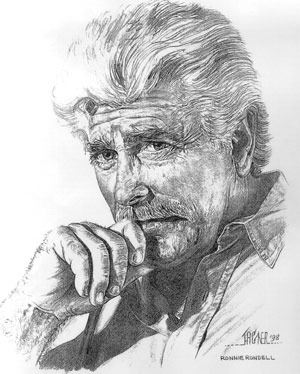 Drawing of Ronnie Rondell by John Hagner