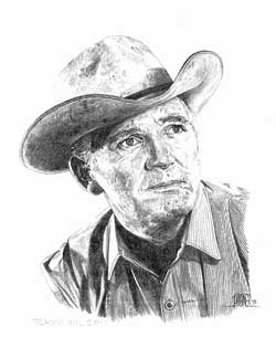 Terry Wilson as drawn by John Hagner
