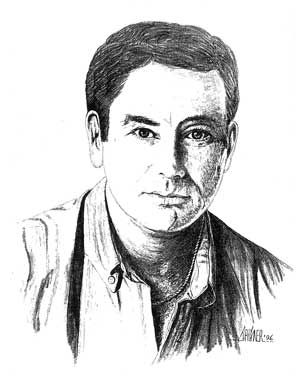 Gary McLarty as drawn by John Hagner, Artist of the Stars