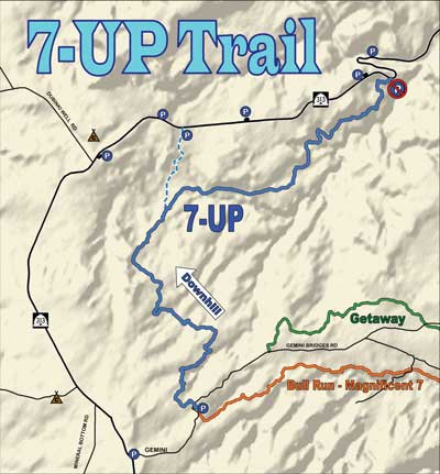 7Up Trail Map