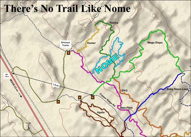 Nome trail map