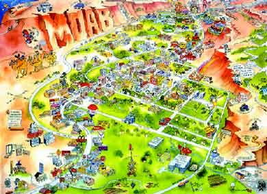 Moab cartoon map