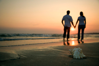 couple at sunset image