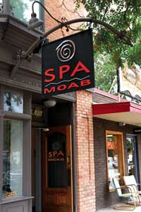 spa moab store front