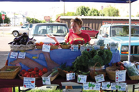 Picture of a female vendor at the Moab Farmer's Market