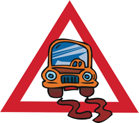 """Attention Greasy Road"" Graphic"