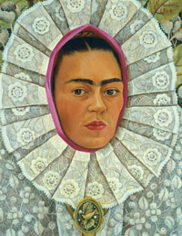 Frida Kahlo, Self-Portrait with Medallion, 1948, oil on masonite,  Private Collection, Mexico