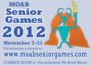 Senior Games event logo and dates